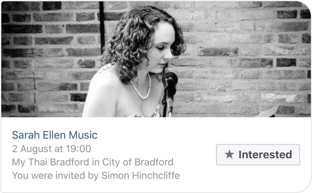 Sarah Widdup Live 3 May 2017